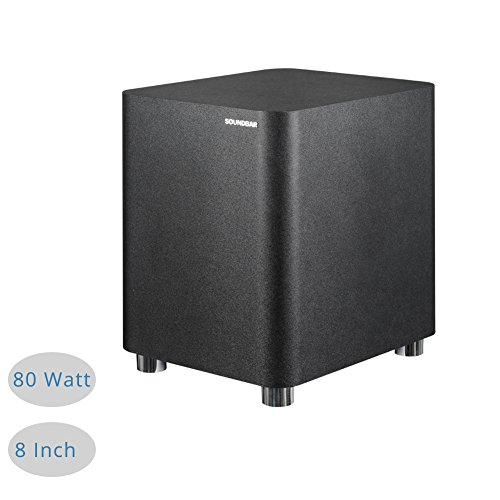 Price comparison product image MEGACRA 80W 8Inch Wired Passive Subwoofer Delivery Deep Powerful Sound for MEGACRA S9620 TV Sound Bar Only