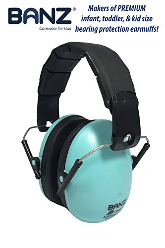 Baby Banz Earmuffs Kids Hearing Protection - Ages 2+ Years - THE BEST EARMUFFS FOR KIDS - Industry Leading Noise Reduction Rating - Soft & Comfortable - Kids Ear Protection, Turquoise by BANZ (Image #5)