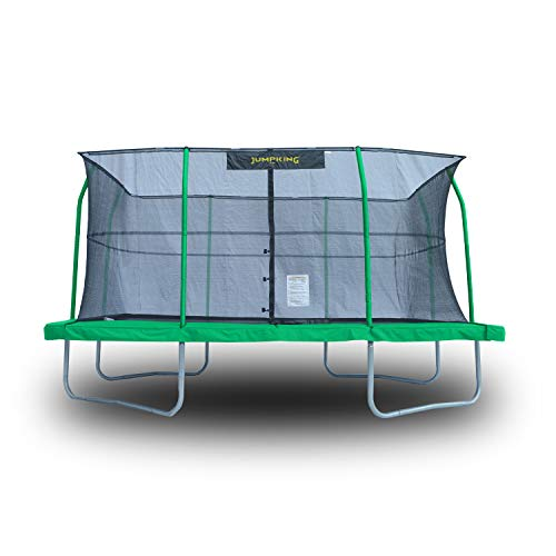 JumpKing 10 x 14 Foot Rectangular Trampoline with Safety Net...