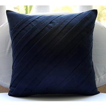 Amazoncom Handmade Navy Blue Accent Pillows Contemporary Pillow