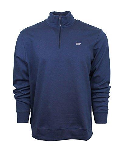 Vineyard Vines Cotton Blue Blazer Mens Jersey 1/4 Zip Jacket