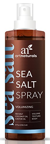 ArtNaturals Sea Salt Hair Spray – 7.5 Oz – Volumizing and Texturizing for Carefree Tousled Styles – Natural Spray That Works for All Hair Types – Made from Sea Salt, Coconut Oil and Castor Oil