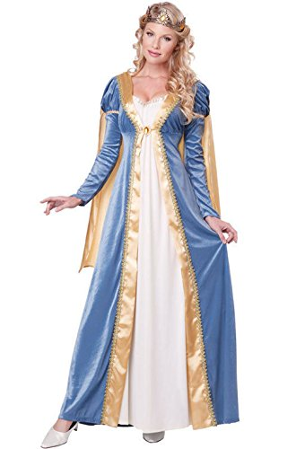 Mememall Fashion Elegant Empress Royal Medieval Maiden Queen Adult Women Costume (Royal Empress Adult Costume)