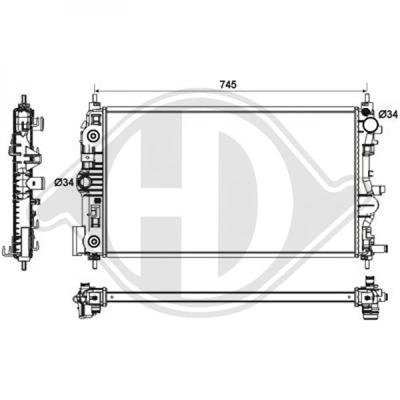 Diederichs DCM1642 Radiator, radiator:
