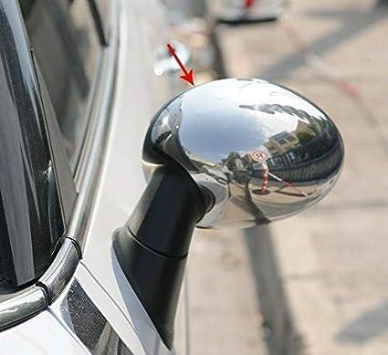 2 pezzi Copri specchietti in acciaio INOX cromato Clubman R55//Cooper R56//Cabriolet R57