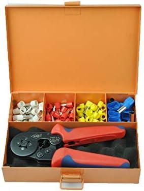 ケーブルカッター 圧着ペンチ 0.25〜6mm²ケーブルフェルール用 自動調整式 圧着工具セット ツールボックス 手動ケーブルカッター