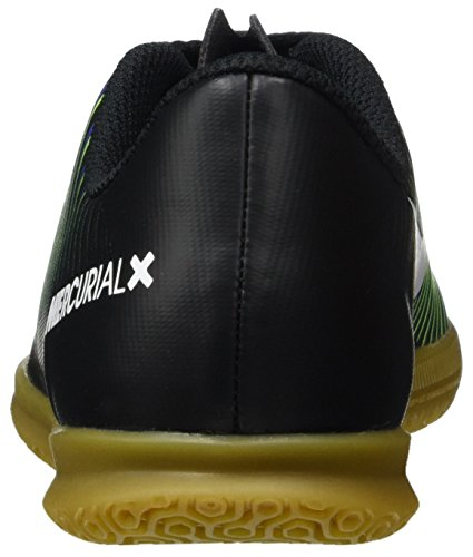 Nike Jungen 831953-013 Hallenfußballschuhe Schwarz (Black/Wht-Elctrc GRN-Prmnt Bl)