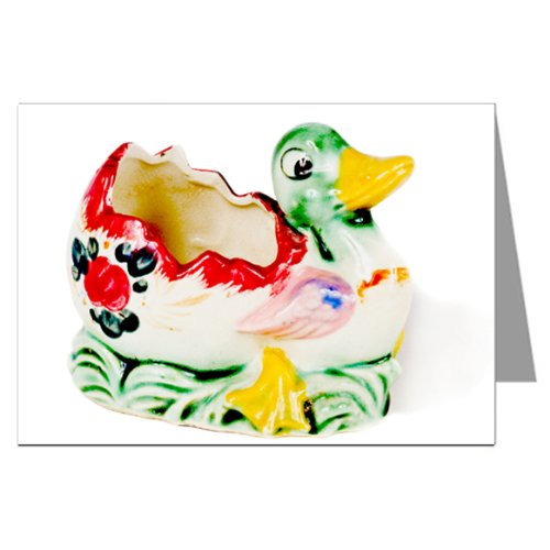 (Vintage Kitsch Ceramic Duck Collectible Notecard Set)