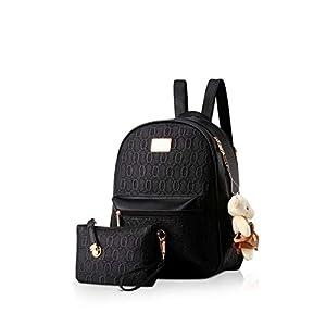 NICOLE&DORIS Sac à dos pour femmes Mode Sac à dos cartables Anti-vol Daypack Dames Sacs à main 2pcs Fille Sac à dos…