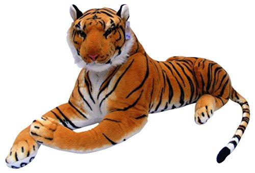 Best Made Toys Giant Stuffed Tiger Animal Big Orange Tiger Plush, (Giant Tiger)