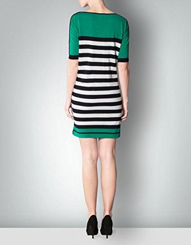 Laurèl Damen Strickkleid Baumwollmix Modisches Kleid Gestreift, Größe: 42, Farbe: Blau