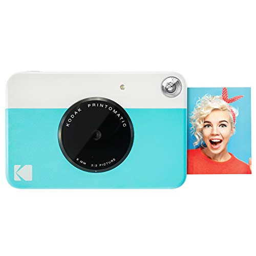 Kodak PRINTOMATIC Digital Instant Print Camera (Light Blue), Full Color Prints On Zink 2×3 Sticky-Backed Photo Paper – Print Memories Instantly