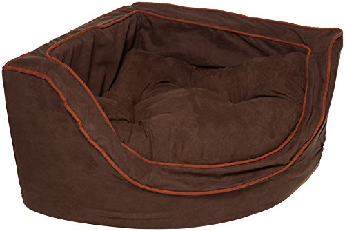 Snoozer Luxury Corner Pet Bed, Small, Hot Fudge/Cafe by Snoozer