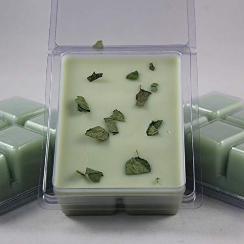 Wholesale Tart Burners - Basil Sage Mint Scented. A Unique Herbal Fusion. Soybean Blend Wax Melt. Hand Poured by Twisted Oaks Wax Works, Nebraska.