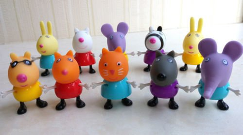 10pcs Peppa Pig Suzy Danny Rebecca Emily Friends Figures Toys Gift Family Dolls (The Corpse Bride Emily)