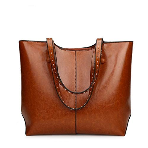 Designer Bags Meaeo Casual Nero Pu Handbags Women Zipper Brown Houlder For Soft Tote 8SxSqwO15