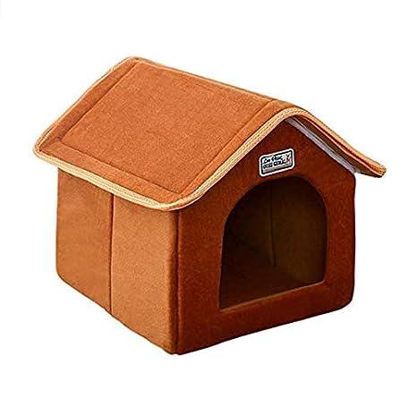 Caomoa L código marrón extraíble Mascota Nido móvil casa de Perro Agujero del Perro Agujero del Gato Cama del Perro Cama del Gato: Amazon.es: Productos para ...