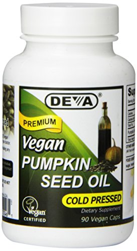 Deva Nutrition Vegan Pumpkin Seed Oil Capsules, 90 Count