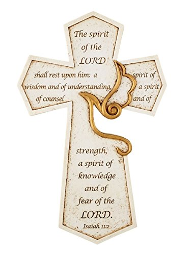 The Spirit of the Lord Confirmation Holy Spirit Wall Cross, 8 1/2 -