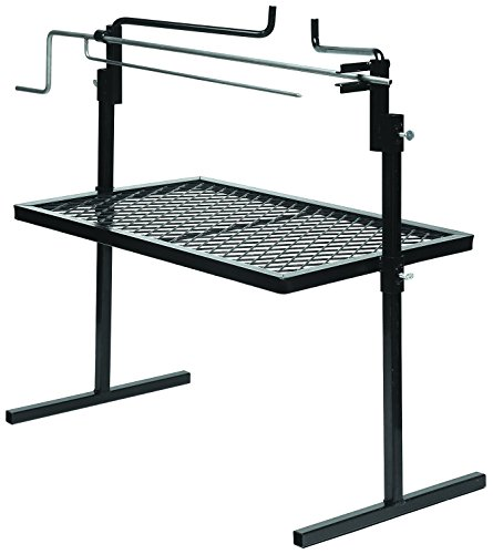 Texsport Heavy Duty Adjustable Outdoor Camping Rotisserie Grill and Spit (Renewed)