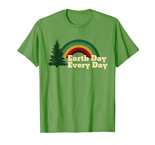 T-shirts Day Earth - Earth Day Everyday Rainbow Pine Tree Shirt
