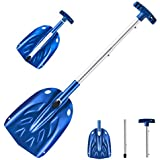 """ORIENTOOLS Aluminum Lightweight Snow Shovel, 30 Inches Dismountable Garden/Sport/Snow Utility Shovel with Adjustable Length Handle Suitable for Car or Truck Storage (8"""" Blade)"""