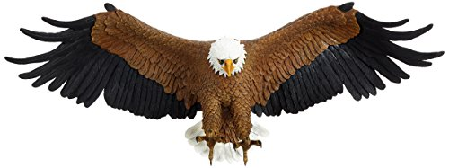 Design Toscano Freedom's Pride American Bald Eagle Patriotic Wall Sculpture, Large 31 Inch, Polyresin, Full Color ()