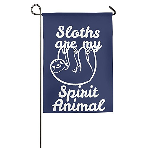 Buecoutes Sloths Are My Spirit Animal Home Family Party Flag 1218inch Hipster Welcomes The Banner Garden Flags ()