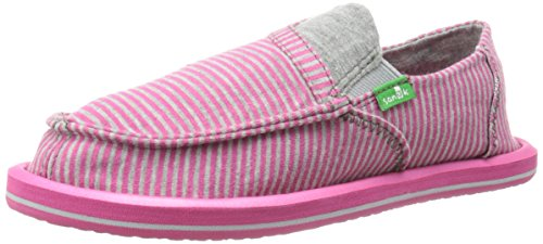 Sanuk Kids Pick Pocket Tee Sidewalk Surfer Youth ,Fuchsia St