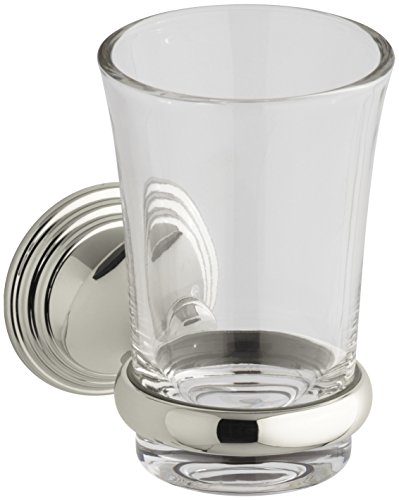 KOHLER K-10561-SN Devonshire Tumbler and Holder, Vibrant Polished Nickel (Polished Holder Toothbrush)