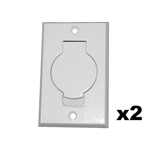 ANTOBLE 2 Pcs Standard Central Vacuum Inlet Valve Plate White for Beam Central Vac - White Round Door (Vacuum Central Inlet)