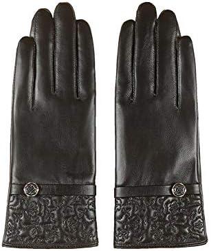 GUANTES XUERUI Señoras Pantalla Táctil Mitones Térmico Cuero Invierno  Conducción Deportes Aire Libre (Color   Negro edba989f3ab