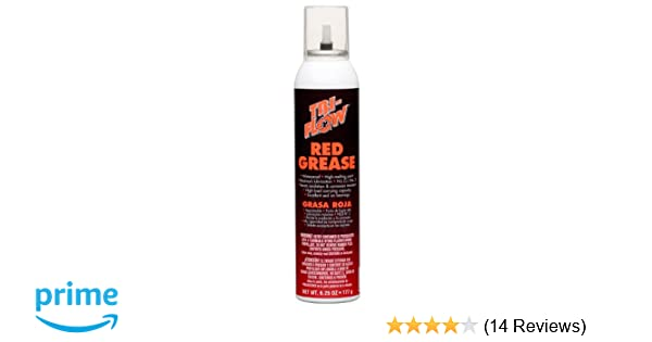 Tri-Flow TFBP20030 Red Grease - 6.25 oz. Aerosol