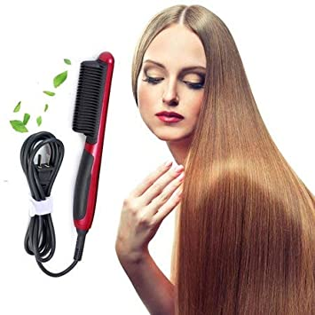 Amazon Com Electric Hair Straightener Flat Iron Instant Magic Straight Hair Straightening Styling With Ceramic Lcd Temperature Display Beauty