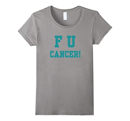 Ovarian Cancer Support T-shirts (Womens Ovarian Cancer Support T-SHIRT Medium Slate)