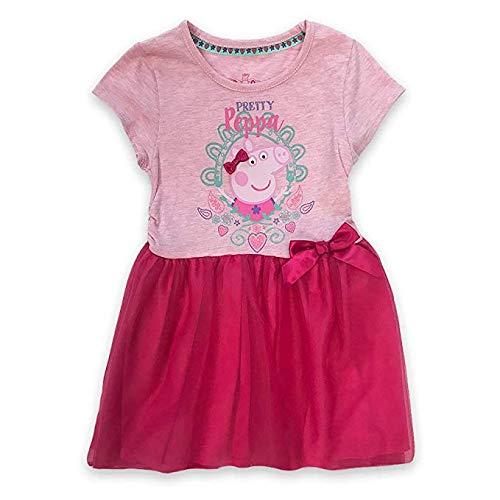 (Peppa Pig Girls' Toddler Pretty Peppa Graphic-Print Tutu-Dress, Pink/Multi, 3T)