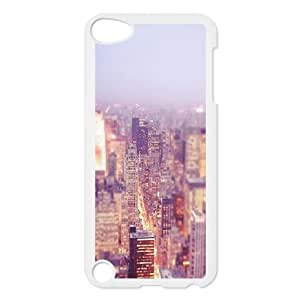 Custom New York City Skyline at Night Ipod Touch 5 Case, New York City Skyline at Night Personalized Case for iPod Touch5 at Lzzcase