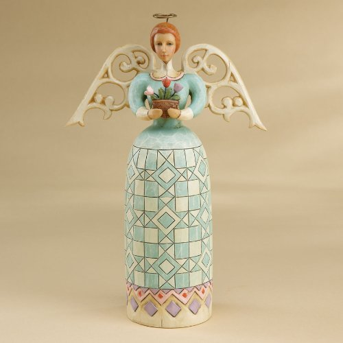 Folk Art Angel Figurine - 2