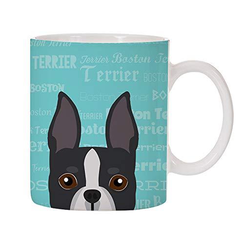 Adorable Dog Breed Specific 11oz Ceramic Coffee Mug (Boston Terrier) ()