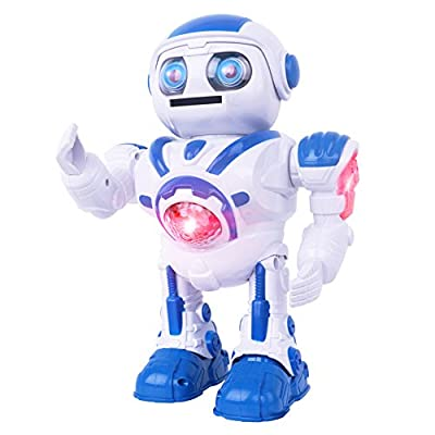Walking Toy Robots for Kids, Robot Dolls That Catapult Darts with Sounds and Flashing Light, Gift for Children Age Above 3 Years