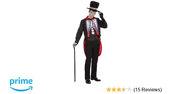 Amazoncom Forum Mens Day Of The Dead Costume Multi Standard