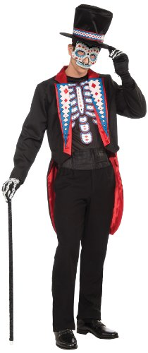Forum Men's Day Of The Dead Costume, Multi, Standard