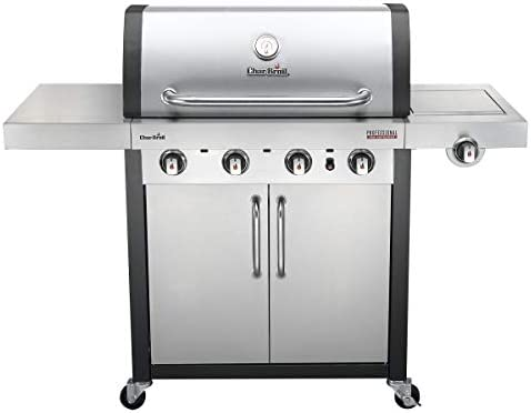 Char Broil Professional Series 4400 S 4 Burner Gas Barbecue Grill With Tru Infrared Technology And Side Burner Stainless Steel Finish Amazon Co Uk Garden Outdoors