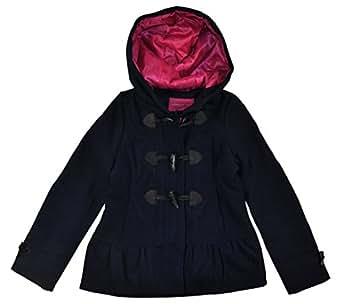 Amazon.com: London Fog Big Girls' Faux Wool Coat with Toggles