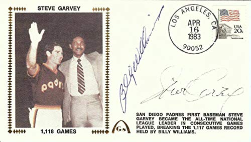 Billy Williams Steve Garvey Dual Signed Autographed First Day Cover U06586 - JSA Certified - MLB Cut Signatures