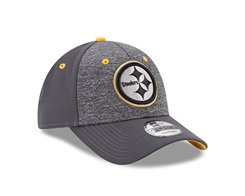 New Era NFL Pittsburgh Steelers Adult Men The League Shadow 2 9FORTY Adjustable Cap, One Size, Graphite