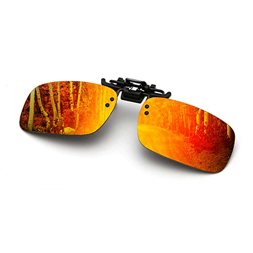 ec8c2f4e96304 Polarized Clip On Sunglasses Flip Up Anti-Glare UV 400 Clip-on Sunglasses  Over
