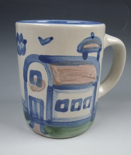 M.A. Hadley China COUNTRY SCENE-BLUE Mug (Barn) EXCELLENT