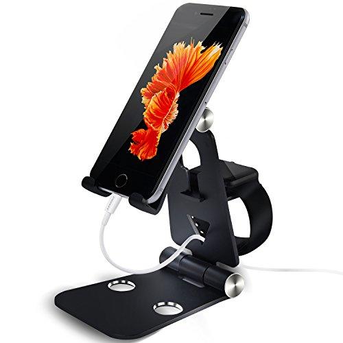 Aluminum Mobile Desktop Station Holder Phone Dock Cradle Holder For iPhone (Gold) - 8