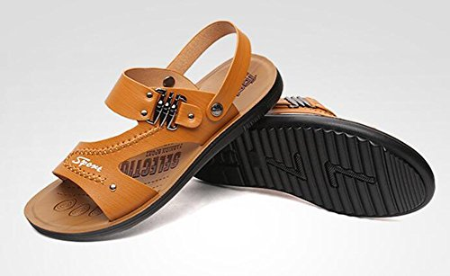 Keplia Cool Summer Skidproof Mens Sandals Lightweight Sandels Brown y3GoureMrM
